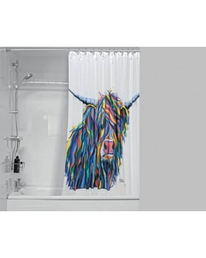 Designer Angus McCoo Shower Curtain Water Resistant Fabric by Steven Brown
