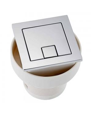 Square Toilet Cistern Push Button Dual Air Pneumatic Flush Chrome Bathroom