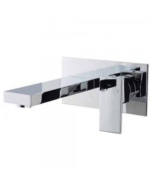 Form Square Wall Mounted Bath Filler Mixer Tap Modern Chrome Bathroom