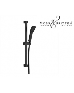 Moss & Britten Modern Shower Slider Rail Kit MATT BLACK