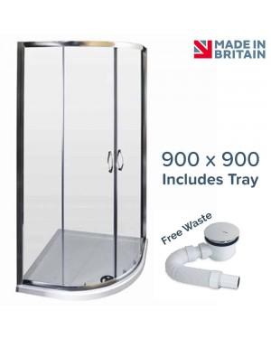 Ella 900 x 900 Quadrant Shower Enclosure Including Tray