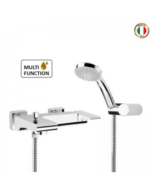 Loreto Contemporary Designer Wall Mounted Bath Shower Mixer
