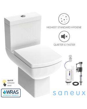 Saneux I-LINE Square Close Coupled Rimless Toilet