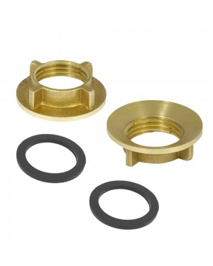 Brass Tap Back Nuts including Washers (Pair)