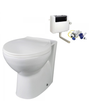 Back to Wall BTW WC Pan Toilet Concealed Cistern Soft Close Seat