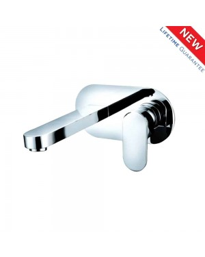 Round Wall Mounted Modern Chrome Modern Lever Basin Sink Mixer Tap