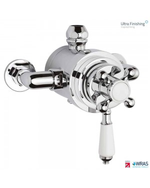Ultra Traditional Victorian Dual Exposed Bathroom Shower Valve