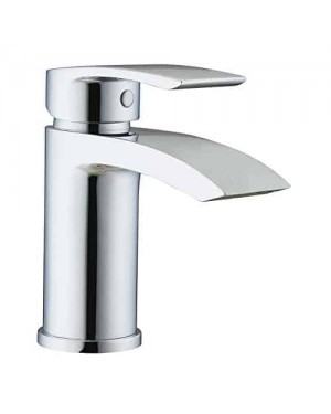 Trade in Post Sleek Mono Bathroom Basin Sink Mixer Waterfall Style in Chrome