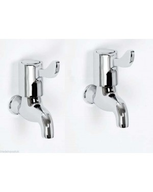 BIB TAPS CHROME LEVER 1 PR 1/4 TURN TAP SET HOT & COLD SKARA KITCHEN UTILITY
