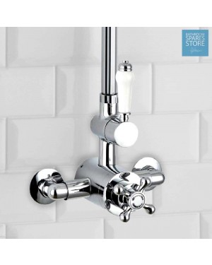 Traditional Victorian Style Thermostatic Shower Valve Ceramic Lever Solid Brass