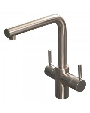 Reginox - R3N1 Brushed Nickel Instant Boiling Hot Water Kitchen Sink Mixer Tap